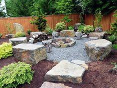 Cozy Backyard, Rustic Backyard, Backyard Seating, Fire Pit Backyard, Rustic Outdoor, Outdoor Decor, Cheap Fire Pit, Cool Fire Pits, Diy Fire Pit