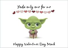 Personalised Yoda Valentines Card Any Name