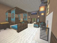 fireplace, master bedroom Cool Minecraft Houses, Master Bedroom, Mansions, Cool Stuff, House Styles, Outdoor Decor, Furniture, Home Decor, Blog