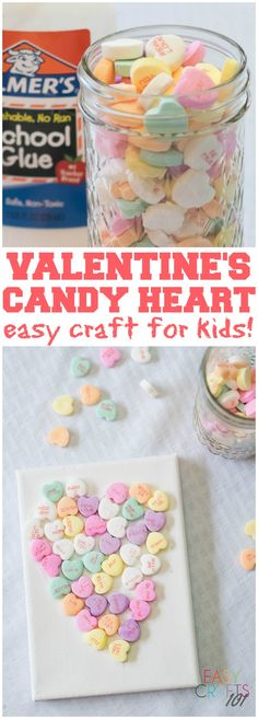 Valentine's Candy Heart: Easy Craft for Kids - Easy Crafts 101