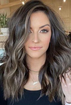 Brown Hair Balayage, Hair Highlights, Hair Color And Cut, Brown Hair Colors, Garnier Hair Color, Brunette Hair, Hair Dos, Dark Hair, Hair Inspiration