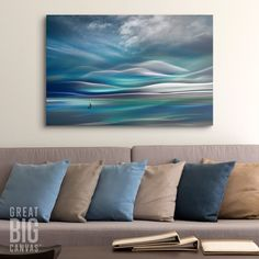 Abstract Photography in the Living Room. Enjoy a modern coastal vibe with abstract photography by Ursula Abresch. And we promise this conversation piece will not only have guests feeling inspired by your style, but also amazed that Abresch's photography skills.