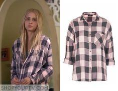 Pretty Little Liars: Season 6 Episode 3 Sara's Pink Plaid Shirt