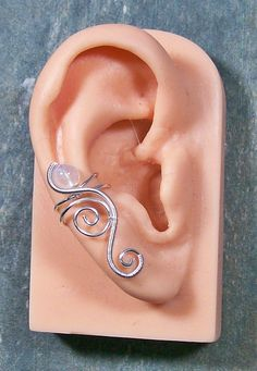Moonstone & Silver Ear Cuff - Cascade Style. $11.99, via Etsy.