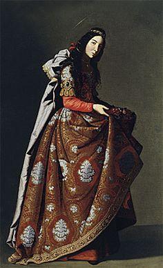 Sainte Casilde, 1630-1635, Francisco de Zurbarán