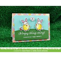 Tampons transparents 'Lawn Fawn' Chirpy Chirp Chirp
