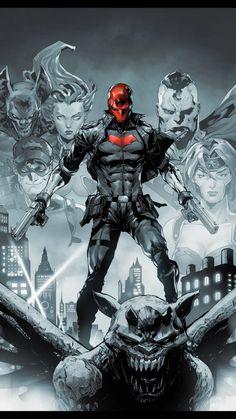 Red Hood Comic, Red Hood Dc, Batman Red Hood, Dc Comics Characters, Dc Comics Art, Red Hood Wallpaper, Red Hood Jason Todd, Univers Dc, Batman Comic Art