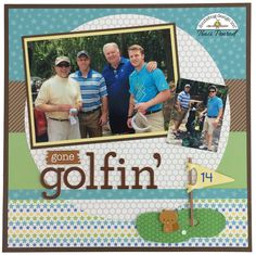 Gone Golfin' Layout by Traci-Doodlebug Alphabet Giveaway!! I love to pinterest and love doodlebug and love alphas.