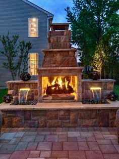 Regency at Trotters Pointe offers homeowners stone fireplaces for outdoor living
