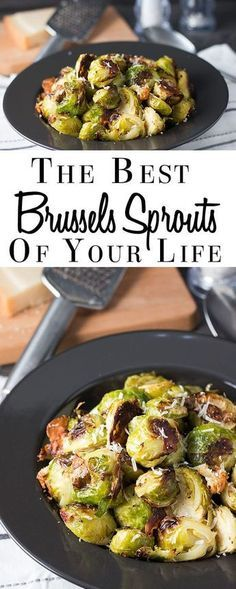 With only 4 ingredients & some seasoning, this recipe for garlic Parmesan roasted Brussels Sprouts will really be The Best Brussels Sprouts of Your Life! This recipe really couldn't be any simpler or more delicious. via @Erren's Kitchen