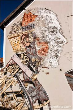 Vhils and Pixel Pancho - Street Artist