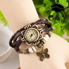 >> Click to Buy << Dropshipping New Arrivals High Quality Women Leather Vintage Bracelet Watch Wristwatches Butterfly Wing T1000001 #Affiliate