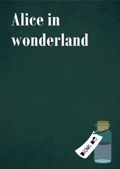 "Minimalist posters of the movies ""Alice in wonderland"" and ""Charlie and the chocolate factory"""
