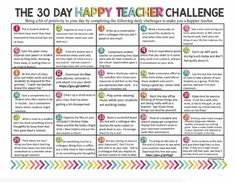 THE 30 DAY HAPPY TEACHER CHALLENGE (Free Download)