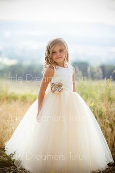 NEW The Juliet Dress in Ivory/Light Gold with Flower Sash