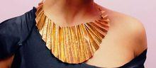 ANUROCKMETAL.NET NKRUMAH JENNINGS, KODWO NWALA  Brass necklace with brass chain...