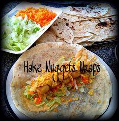 Hake Nugget Wraps