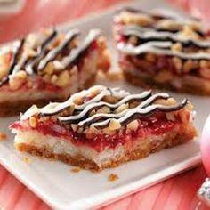 Raspberry Coconut Bars - Steph