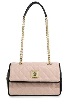 LOVE MOSCHINO Two-tone quilted faux leather shoulder bag found on Nudevotion