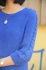 Tuto : ici     Ça y est mon pull Bleuet est terminé ! Vous vous souvenez ? Je vous parlais du pull  qui m'a servi de modèle il y a quelques...