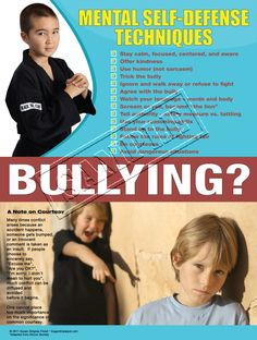 This poster is now available for sale! Mental Self-Defense Techniques - A positive response to bullying