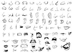 how to draw animated mouth
