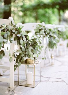 "The place where you exchange your ""I do's"" should reflect your individual personality, style, and love. So when it comes to ceremony décor, don't be afraid to utilize every piece of your space – starting with your walk down the aisle! Aisle liners can transform your ceremony into something even bett"