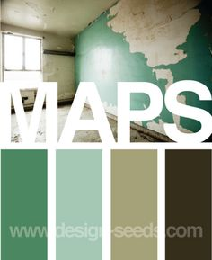 Maps...these are basically the colors for the wedding!  That's exciting!