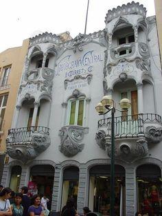 Lima Peru- looks similar to the architectural design of casa batllo in Barcelona.
