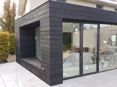 Burnt-Scorched-Siberian Larch Burnt Charred Wood Cladding Available from Stock TGV Secret Fix Shiplap - Timber Focus Wood Cladding Exterior, Black Cladding, Wooden Cladding, House Cladding, Facade House, Cladding Design, Wood Siding, Bungalow Extensions, Garden Room Extensions