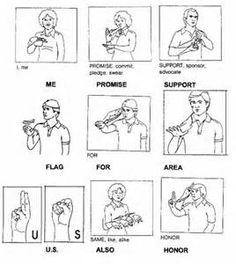 printable sign language words flashcards