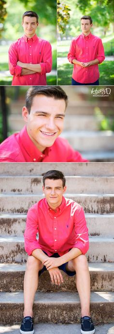 Xander had the best bright colors in his wardrobe for his session! We used this bright coral shirt at his senior photo session in Columbia, MO to contrast with the bright greens in the background! Senior Pictures Boys, Senior Boys, Senior Photos, Senior Picture Photographers, Senior Photography, Coral Shirt, Columbia Missouri, Modern Fashion, Photo Sessions