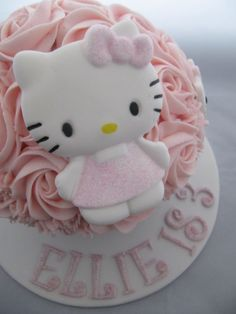 Hello Kitty Giant Cupcake. I know sissy doesn't like hello kitty but.... C'mon