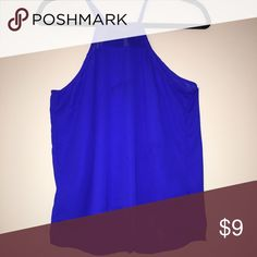Cobalt blue tank top This tank top has a sheer material on top. It is very light and airy and true to size. It is perfect for going out or can be more casual with shorts. Worn once. Tops Tank Tops