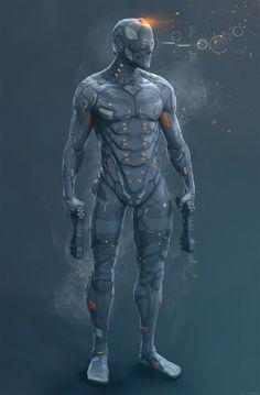 ArtStation - Combat Suit, Snehal S Gopal Character Concept, Character Art, Character Design, Armor Concept, Concept Art, Mode Cyberpunk, Combat Suit, Space Opera, Arte Ninja
