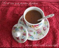 Sos de vin rosu pentru fripturi Tea Cups, Food And Drink, Drinks, Tableware, Pasta, Drinking, Beverages, Dinnerware, Tablewares