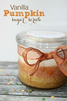 DIY Vanilla Pumpkin Sugar Scrub - great back-to-school gift for teachers!