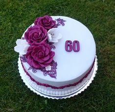 birthday cake Birthday cake from AndyCake Birthday cake 138 Source by cakesdecor Grandma Birthday Cakes, Yellow Birthday Cakes, Elegant Birthday Cakes, 60th Birthday Cakes, Fondant Cakes, Cupcake Cakes, 60th Anniversary Cakes, Cake Decorating Kits, Patterned Cake