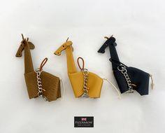 Bose, Yellow Black, You Bag, Key Rings, Giraffe, Mini, Leather, Key Fobs, Felt Giraffe
