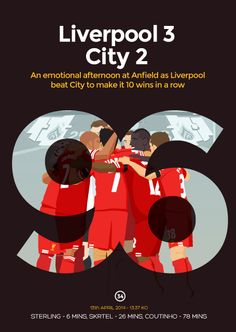 LFC artist Dave Williams has created a postcard for every Liverpool match this season. This one is for the win over Manchester City Premier League Soccer, Premier League Champions, Liverpool City, Liverpool Football Club, Dave Williams, Best Football Team, You'll Never Walk Alone, English Premier League, Manchester City
