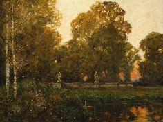 Ferdinand Engelmüller (1867 - 1924 )   Evening in an Old Park