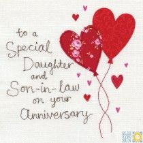 A Daughter and Son-In-Law Anniversary Card
