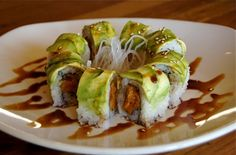 Sweet Potato Sushi....a different version...and I am willing to try them all!