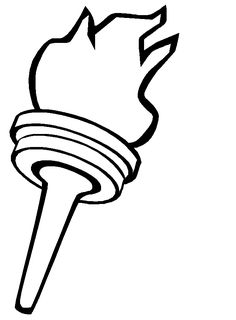 Torch coloring page bulletin board idea for star spangled banner. We carry a torch of pride for America because...