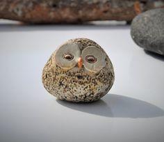 Vintage Owl Figurine 1960s Handmade Owl Orb Mid by FabsAndFaves