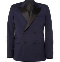 Ami Double-Breasted Wool Tuxedo Blazer | MR PORTER