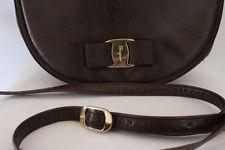 salvatore ferragamo handbag Shoulder Bag Purse VINTAGE brown genuine leather Classic Chic, My Ebay, Salvatore Ferragamo, Purses And Bags, Shop My, Shoulder Bag, Belt, Brown, Leather