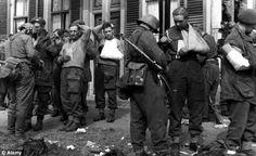 British prisoners captured in the suburbs of Arnhem, September 26, 1944