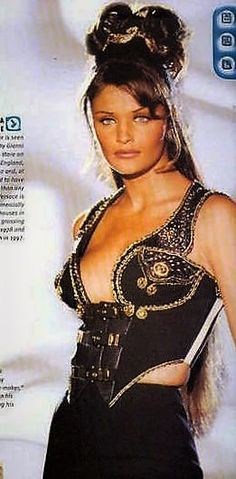 Helena Christensen Gianni Versace Couture Runway Show 90's