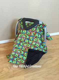 Ninja Turtles Car Seat Canopy Green Car by OurFaithfulCreations